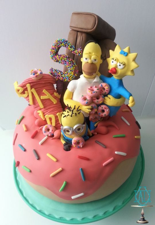 Simpsons Party ⚜ themed cake