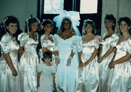 1986 robin hanger's wedding day there's no doubting we're