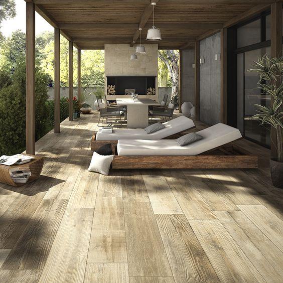 CROSS WOOD Outdoor ceramic parquet , floor usage - Gardening Take