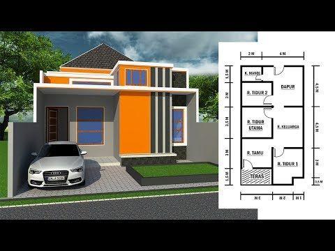 Gambar Rumah Minimalis Ukuran 6 X 12 Lengkap Dengan Denahnya Youtube Rumah Home Fashion Rumah Minimalis