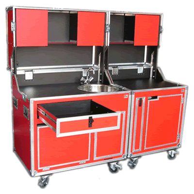 flightcase kitcase schrank koffer k che flight case. Black Bedroom Furniture Sets. Home Design Ideas
