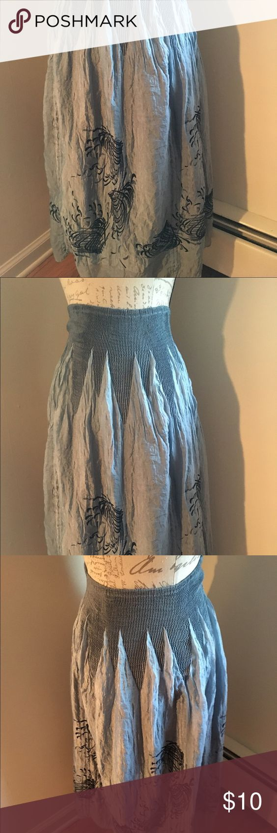 Beautiful comfortable skirt One size fits all - stretchy material - beautiful design Lapis Skirts
