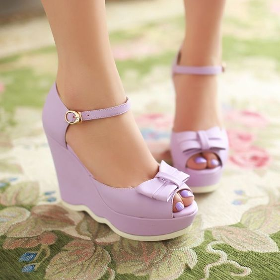 2015 Womens Wedge High Heels Platform Bowknot Peep Toe Creeper Shoes Pumps in Clothing, Shoes & Accessories, Women's Shoes, Heels | eBay