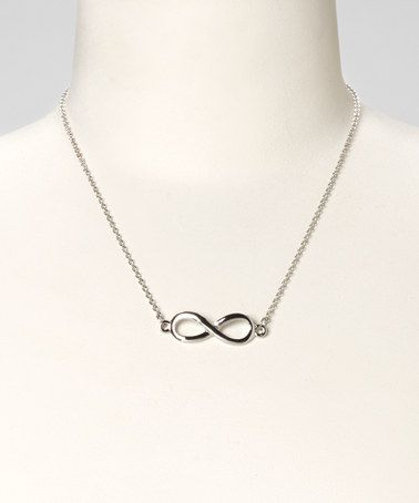 Take a look at this Silver Infinity Necklace by Rachelle Soussan on #zulily today!