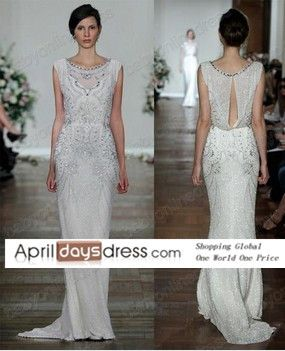 Custom made 2014 Luxury High Neck Jenny Packham cap sleeved Chiffon Formal evening   dress gown with beading US $199.00