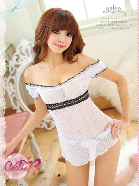 Sexy Dots Sheer Chiffon Short Sleeve Dress - ♥SEXY♥ - Pinterest ...