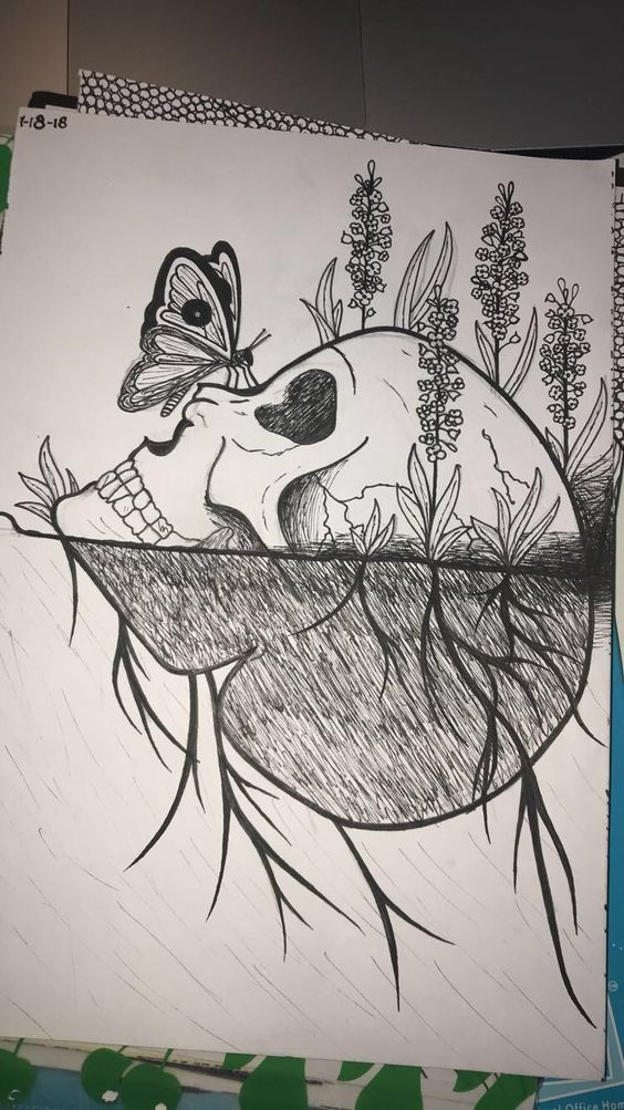 48 Amazing And Creative Drawing Ideas Nature Art Drawings Art Drawings Sketches Creative Art Drawings Sketches