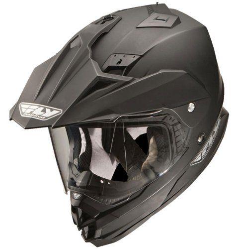 Fly Racing Trekker Adventure Touring Dual Sport Motorcycle Helmet Matte Black Medium Snowmobile Helmets Dual Sport Motorcycle Helmet
