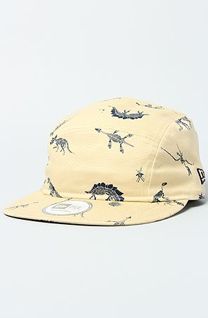 The Jurassic 5 Panel Hat in Off White by Mishka