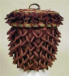 Pine Cone Indian basket