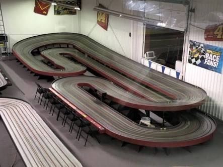Image result for wood routed slot car track photos Slot