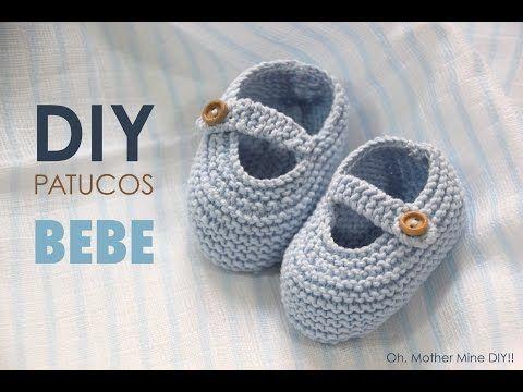 DIY TEJER: Patucos zapatitos de bebe (patrones gratis) - YouTube