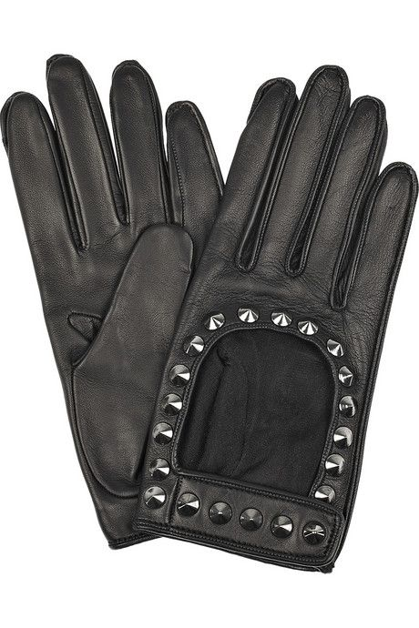 ~Burberry Studded leather gloves~