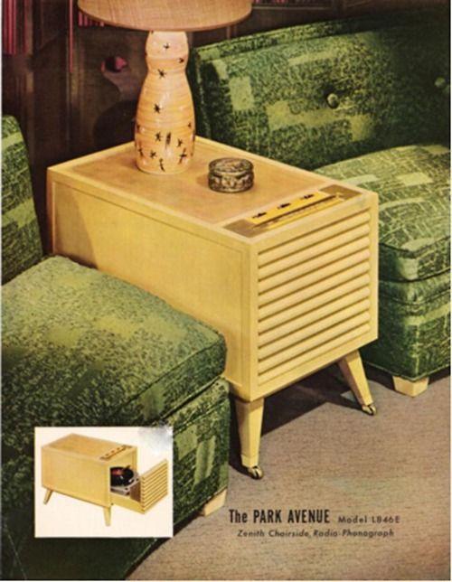 Zenith Chairside Radio-Phonograph Model L846E (USA 1954)