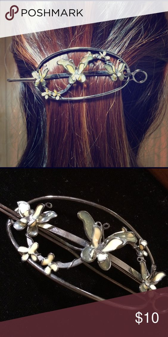 Butterfly hair clip Cute antique looking butterfly hair clip. Accessories Hair Accessories