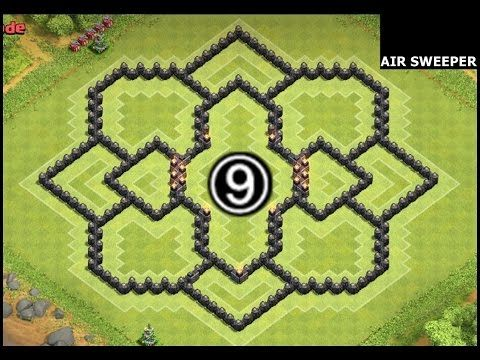 Base clash of clans town hall 9 anti 3 star anti gowipe youtube