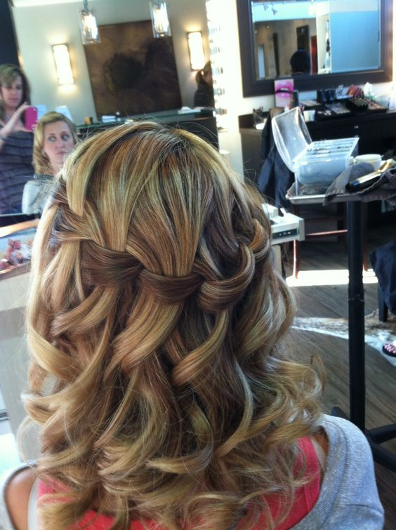 "Hair | How To.  perfect for a ""half up"" look or ...  The How to is included in the comments section: Wedding Idea, Hair Ideas, Wedding Hair, Hairdos, Hair Styles, Hair Makeup, Hairstyle, Waterfall Braids"