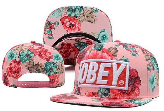 Freeshipping,2013NewArrival,5Color Obey Floral Snapback Caps, HOT Fashion Brands Sports MenWomen Basketball Beach Baseball Hats! $9.98