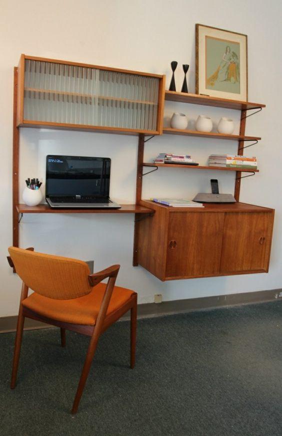 rangement salon moderne meubles de bureau en bois et chaise assorite - Salon Moderne Bois