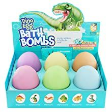 Dino Egg Bath Bombs With Surprise Inside For Kids Dinosaur In Each Fizzy 6 Fizzies Incl In 2020 Kids Bath Bombs Dino Eggs Dinosaur Kids