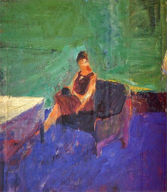 Richard Diebenkorn ~ Abstract and Figurative Expressionism painter                                                                                                                                                                                 More