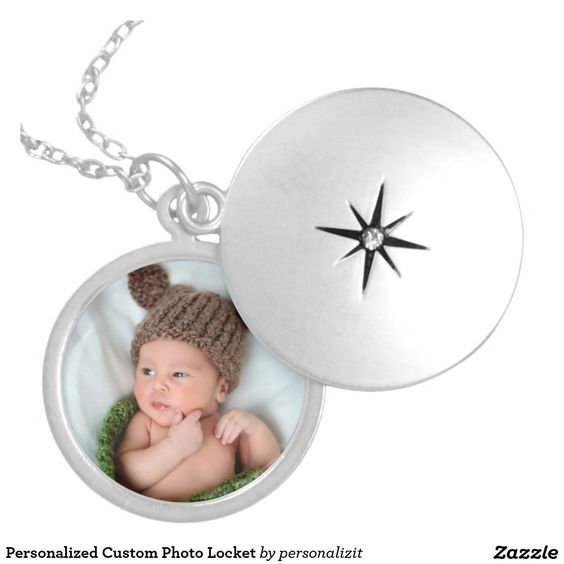 Personalized Custom Photo Locket. Photo by Northern Virginia photographer Marian Lozano www.marianlozanophotography.com. Personalize this locket with your photo. It's great for showcasing photos of the baby, kids or family. To resize or reposition the photo, click on the Customize It button. Please message me for any help or questions. #BabyPhoto#Cute