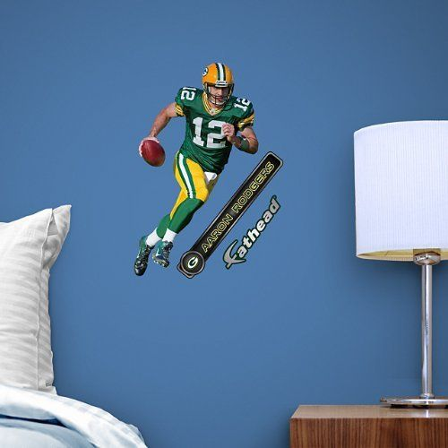 Green Bay Packers Aaron Rodgers 12 Mini Sticker by Fathead by NFL. $18.95. The Green Bay Packers Aaron Rodgers Number 12 Mini Sticker by Fathead offers a hi-definition decal that is easily placed on walls, furniture and notebooks without worry of damage to surfaces. Fathead decals experience zero loss of adhesion when moved from one wall to another. Show off your Cheese Head pride with this Fathead, Aaron Rodgers decal. Green Bay Packers Aaron Rodgers Number 12 Mini Sticker ...