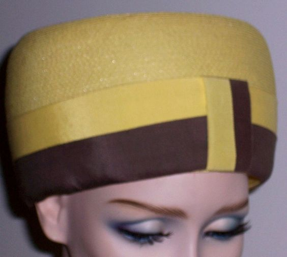 On Ruby Lane - Vintage 1960's Bubble Hat-Pretty Yellow-Iconic Period Topper