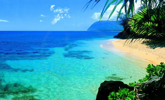 Beautiful blue water and white sands, nothing better than Hawaii!