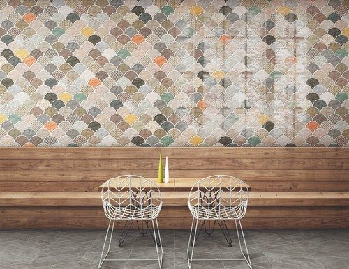 Carreau Ecailles Decorees Brillantes 30x30 Scale Gloss Patchwork 0 85m Apporte Une Touche De Retro Chic A Vos Pieces Asdecarreaux Carreau Carrelage Deco