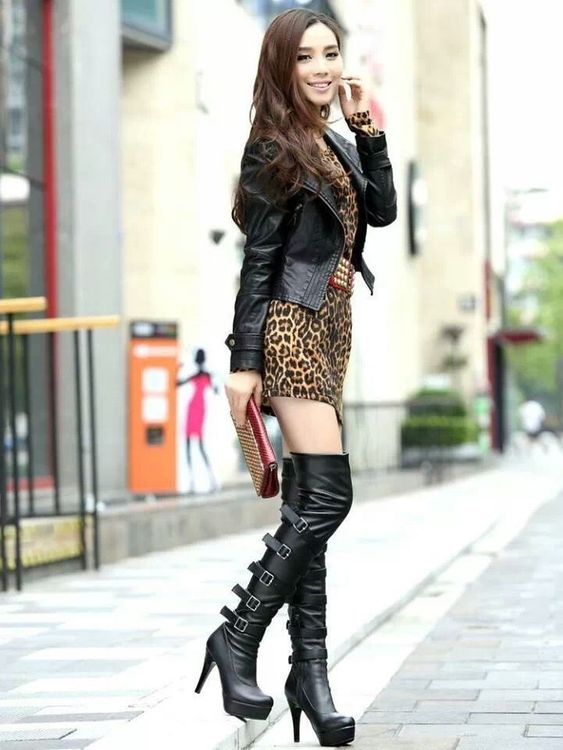 High boots, Knee high boot and Leather on Pinterest