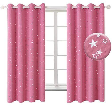 Pony Dance Opaque Stars Curtains Curtains With Eyelets Blackout Curtains For Children S Bedroom Decorativ Kinder Gardinen Rosa Vorhange Vorhange Wohnzimmer