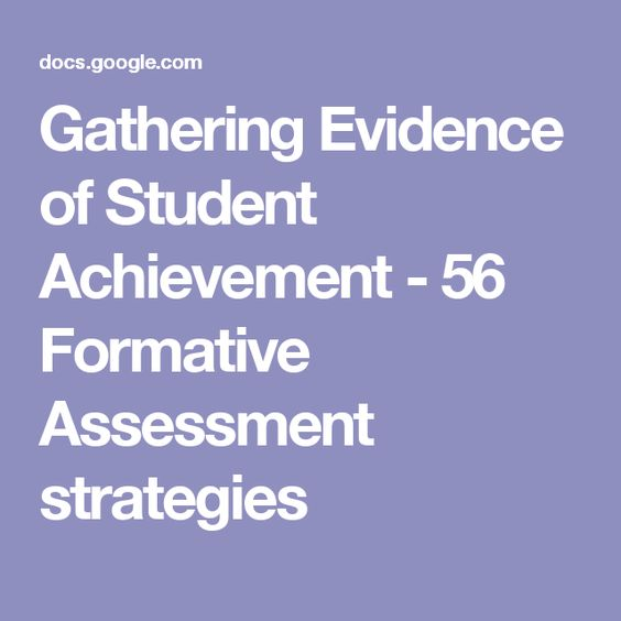 Gathering Evidence of Student Achievement - 56 Formative Assessment - formative assessment strategies