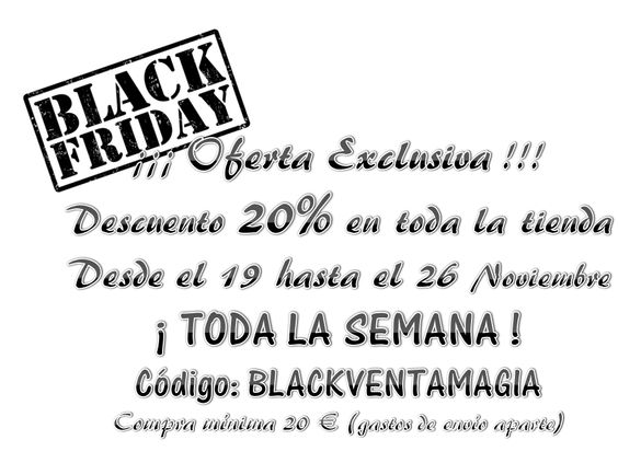 Black Friday del 19 al 26 de Noviembre