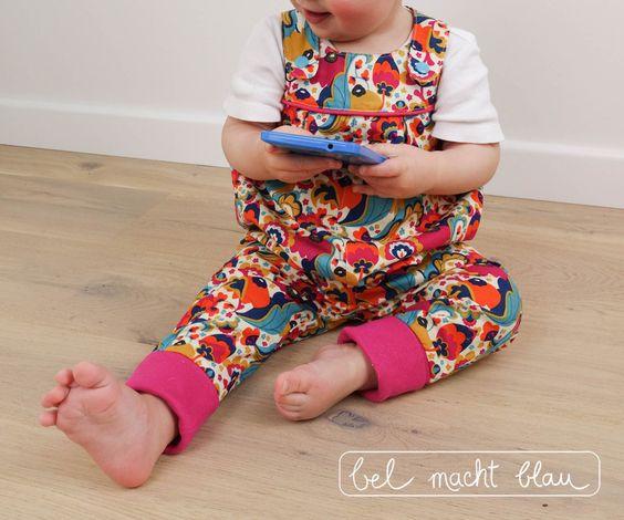 Baby-Latzhose nach dem Schnittmuster von mamasliebchen - toller stoff mirabelle