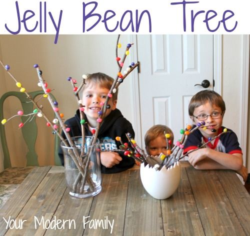 Jelly Bean Tree - a craft/decoration that involves, counting, sorting, science & a great lesson about Easter!