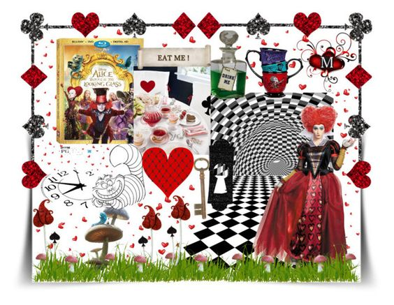 """Alice through the looking glass contest"" by summer-marin ❤ liked on Polyvore featuring contestentry and DisneyAlice"
