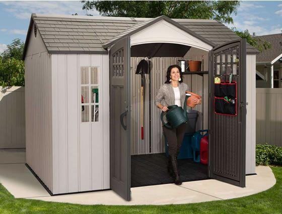 Lifetime 10x8 Shed 60118 Installed Inside View Storageshed Shed Backyard Shed Diy Shed Plans