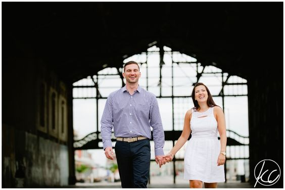 Christine + Ryan Engagement Session   Asbury Park NJ   Kate Connolly Photography