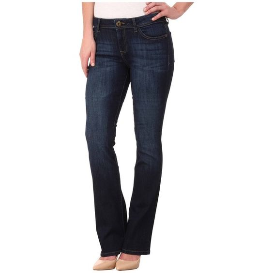 DL1961 Elodie Instasculpt Boot in Pulse Women's Jeans ($178) ❤ liked on Polyvore featuring jeans, blue jeans, dark wash bootcut jeans, blue slim jeans, dl1961 premium denim and zipper jeans