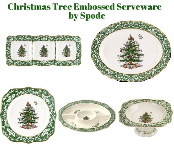 Christmas Tree Embossed Serveware by Spode