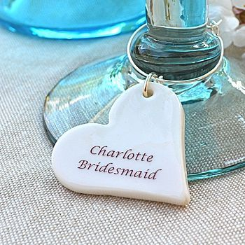 Personalised Wedding Glass Charm Love these