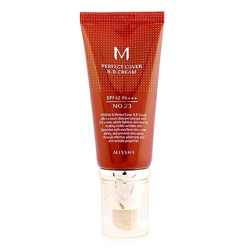 Missha M Perfect Cover B.B. Cream SPF 42 PA+++ 23 Natural Beige, 1.69oz, 50ml