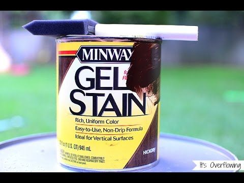 Gel Staining Fiberglass Doors. How to use Gel Stains. - YouTube