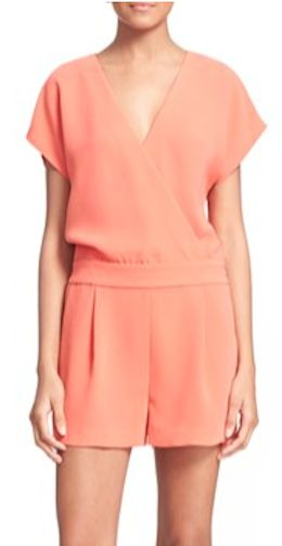 sleek coral romper