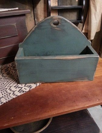 Primitive Candle Box by PrimWoodworksByKld on Etsy