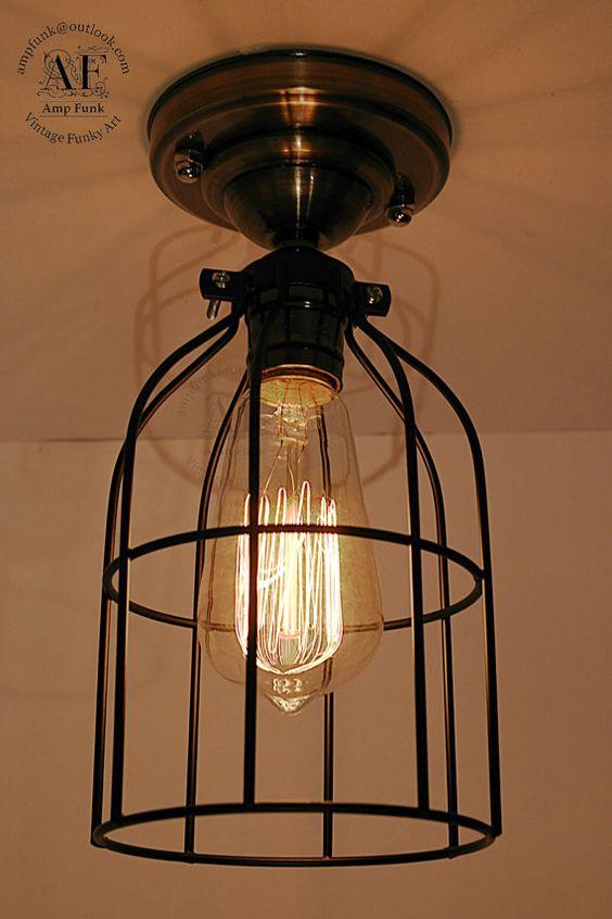 Cage ceiling light Industrial Aluminium ceiling light
