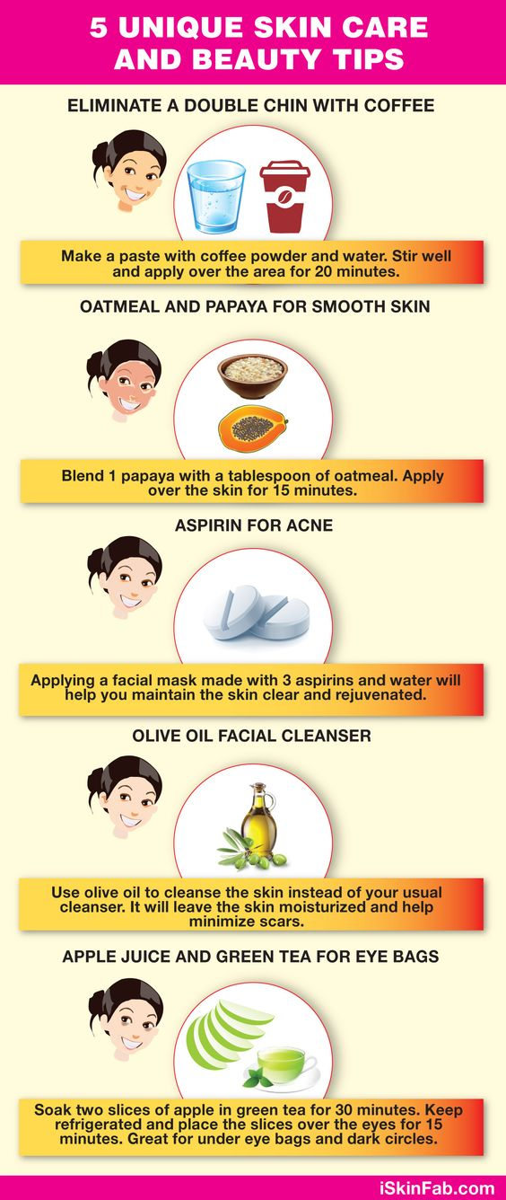 Skin care beauty tips Aspirin really works!!  I haven't try the rest yet
