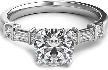 engagement rings with baguettes and round diamonds - Google Search