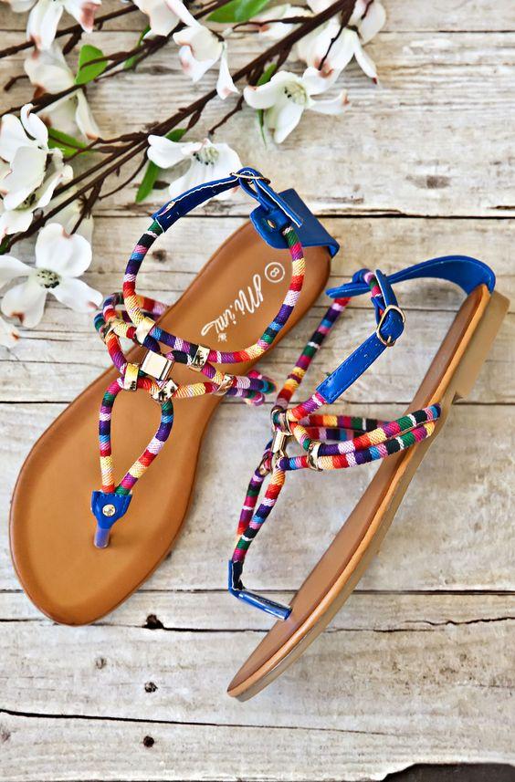 Athena Sandals-Blue